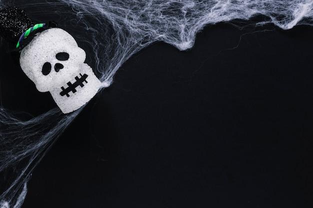 Caveira de açúcar e web