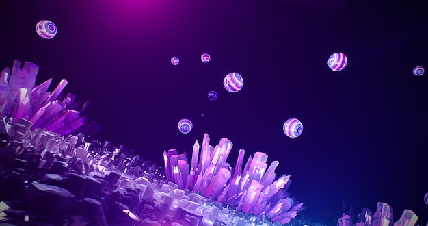 Caverna de cristal de néon