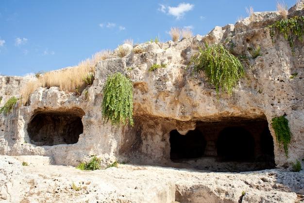 Caverna, neapolis, em, syracuse