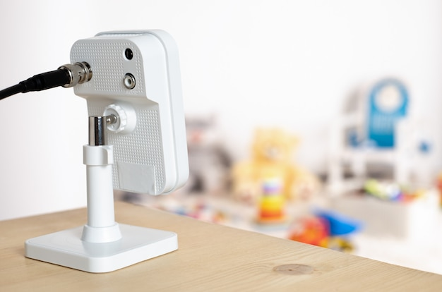 Cctv, câmera ip, monitoramento de segurança, sala de jogos para crianças