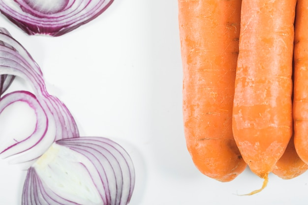 Cebola e cenoura