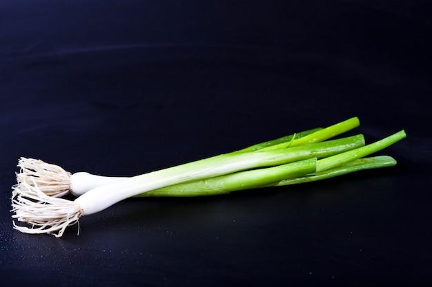 Cebola verde orgânica fresca