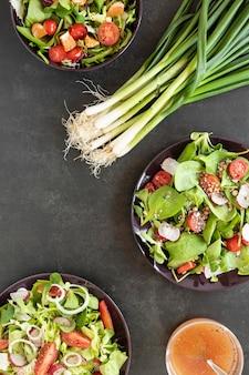 Cebola verde para salada