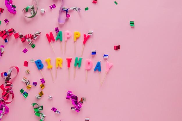 Celebração com aniversário