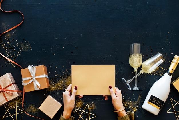 Celebração, conceito, com, um, cartão