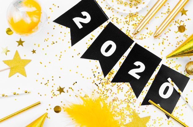 Celebração de ano novo 2020 guirlanda