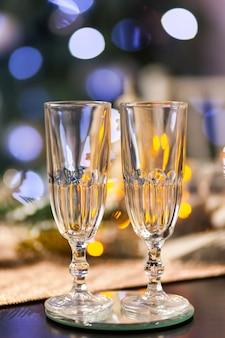 Celebração de natal e ano novo com champanhe