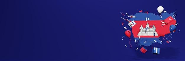 Celebração do dia da independência no camboja para capas de sites