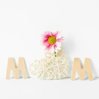 Celebração do dia das mães com flores