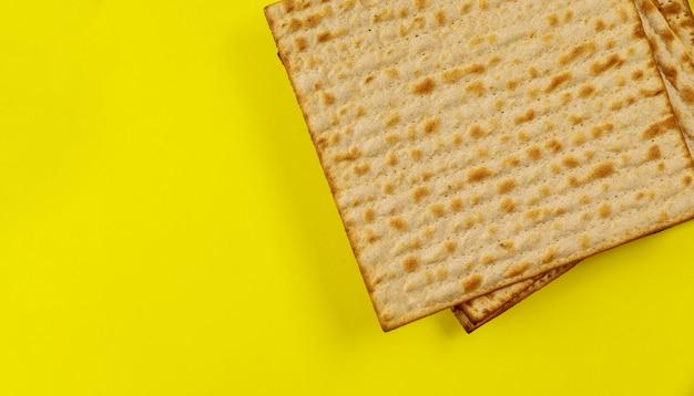 Celebração do feriado de pesah, pão kosher sem fermento matza