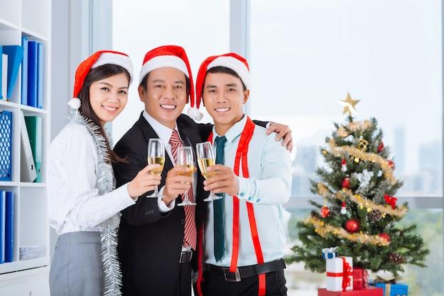 Celebrando o natal no escritório