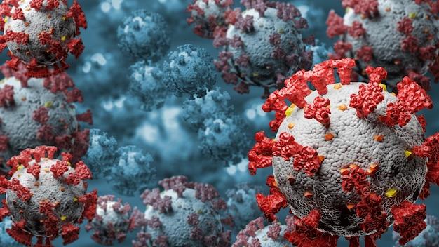 Célula de doença do coronavirus influenza