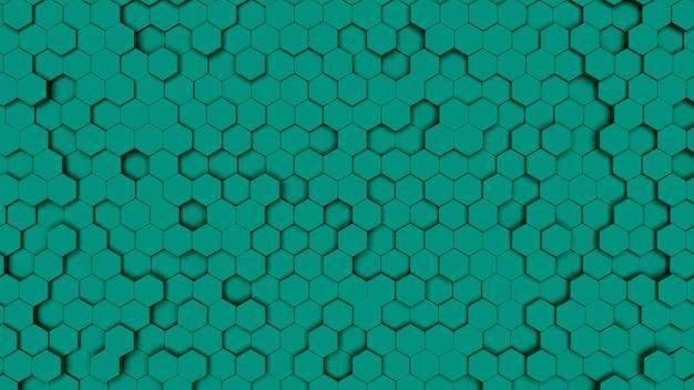 Célula hexagonal verde, textura de pente. fundo