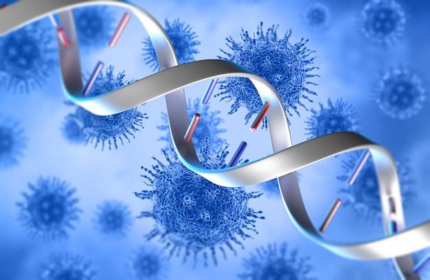 Células 3d e filamentos de dna