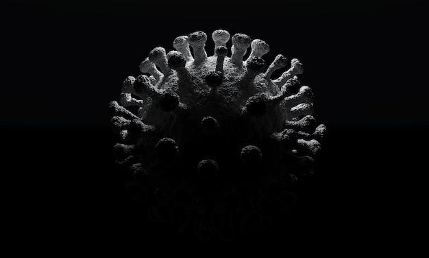 Células de coronavírus ou molécula de bactéria
