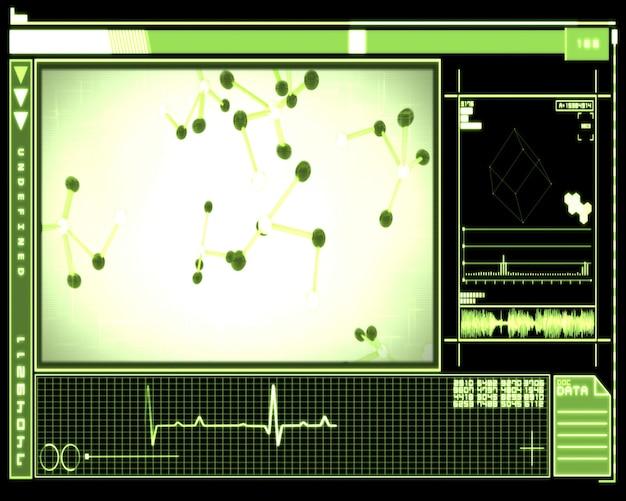Células de dna verdes