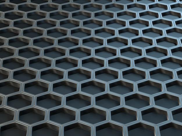 Células de metal hexagonal