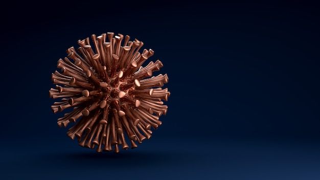 Células do vírus vermelho flutuando