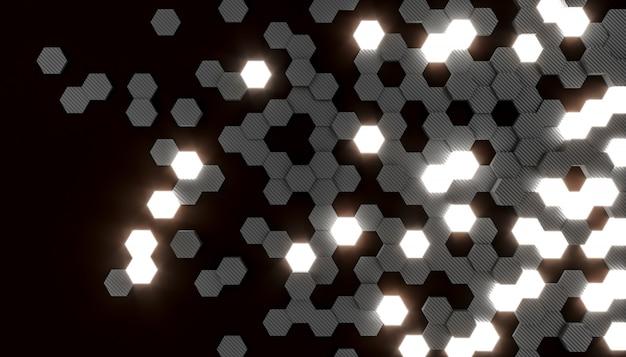 Células em forma de hexágono