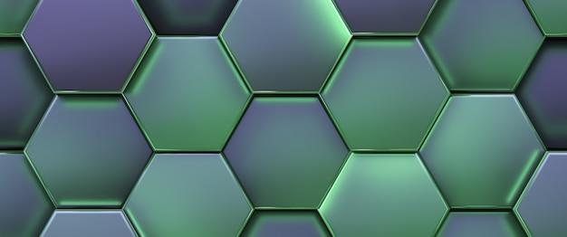 Células hexagonais brilhantes.