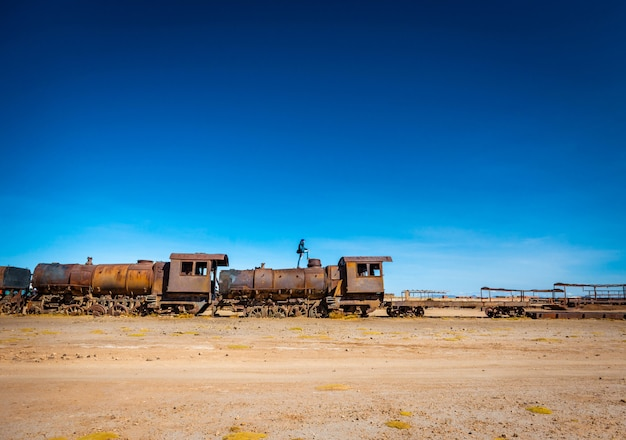 Cemitério de trem grande, uyuni, bolívia