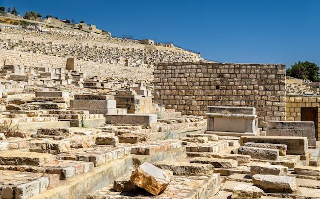 Cemitério judaico do monte das oliveiras - jerusalém, israel