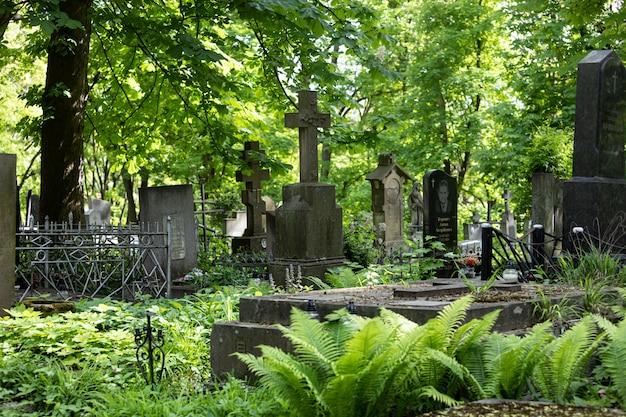 Cemitério lychakiv em lviv, ucrânia