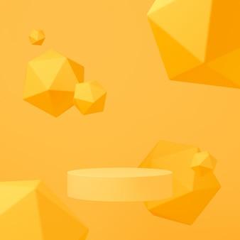 Cena abstrata cor pastel com fundo de pódio de forma geometria