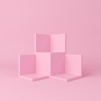 Cena abstrata. fundo de pódio de forma geometria.