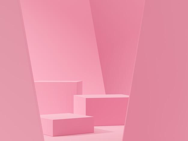 Cena abstrata para exposição do produto. renderização em 3d