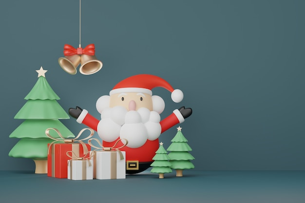 Cena de exibição 3d para apresentação de produtos e cosméticos com conceito de natal e feliz ano novo