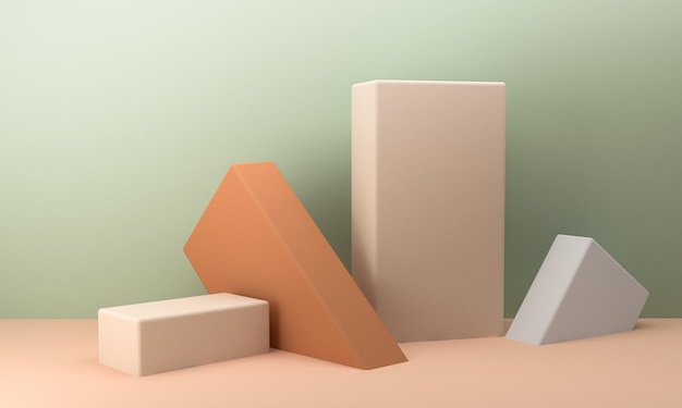 Cena de forma geométrica estilo minimalista