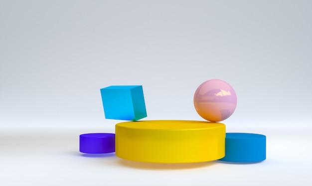 Cena de forma geométrica minimalista