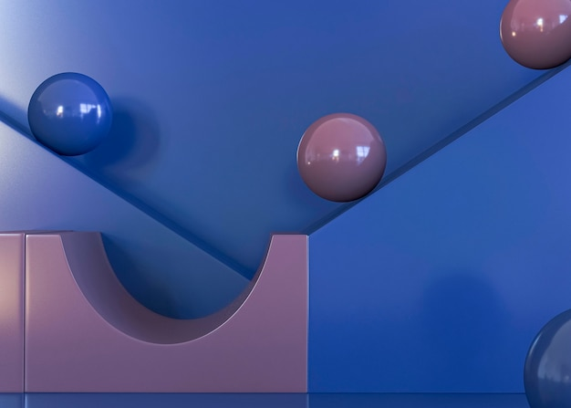 Cena de fundo geométrico 3d abstrato