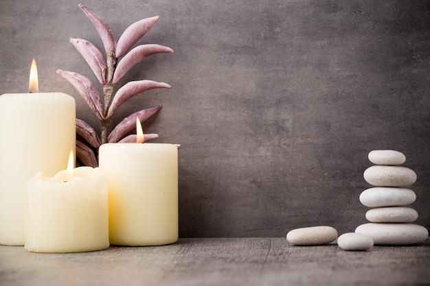 Cena de tratamento de spa de pedras, conceitos como zen.