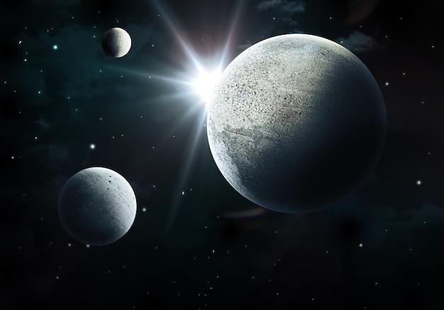 Cena do espaço 3d