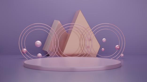 Cena do pódio geométrico 3d para exposição do produto. Foto Premium