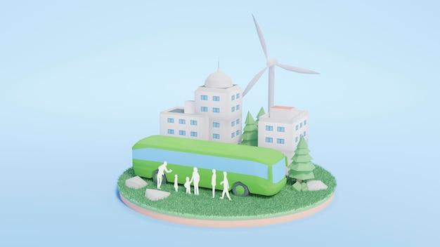 Cena do projeto de ambiente 3d