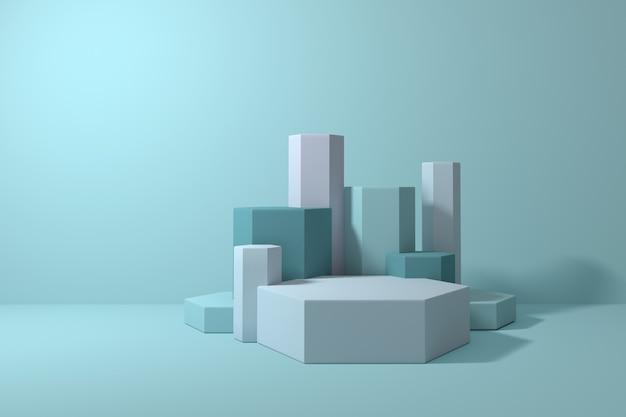 Cena e formas geométricas abstratas mínimas