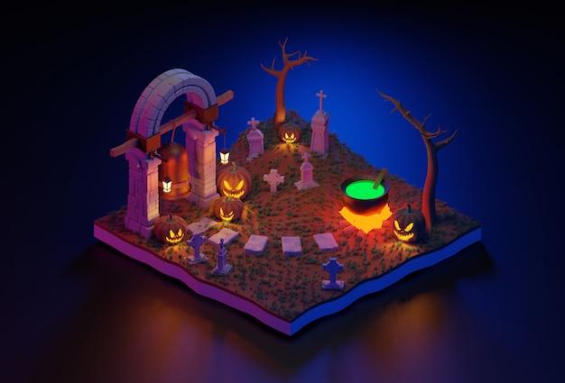 Cena em miniatura de halloween