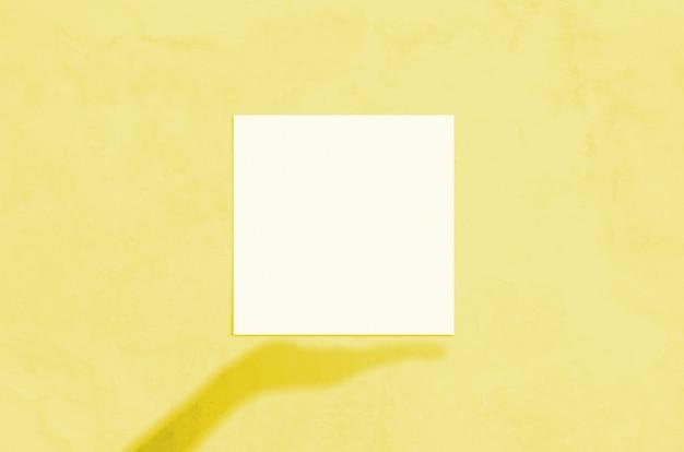 Cena moderna de maquete de papelaria com luz solar no verão