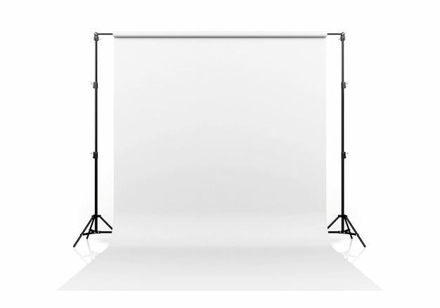 Cenário branco isolado no fundo branco, renderização em 3d