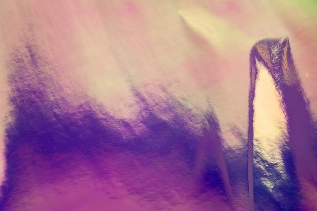 Cenário colorido abstrato holográfico. folha enrugada de cor holográfica. arte iridescente. gradiente criativo na moda. fundo desfocado.