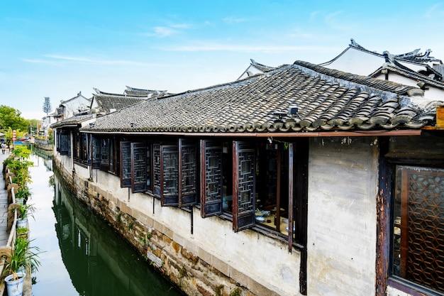 Cenário da cidade antiga de zhouzhuang
