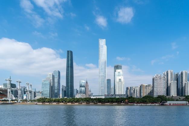 Cenário da cidade de guangzhou e arquitetura moderna paisagem