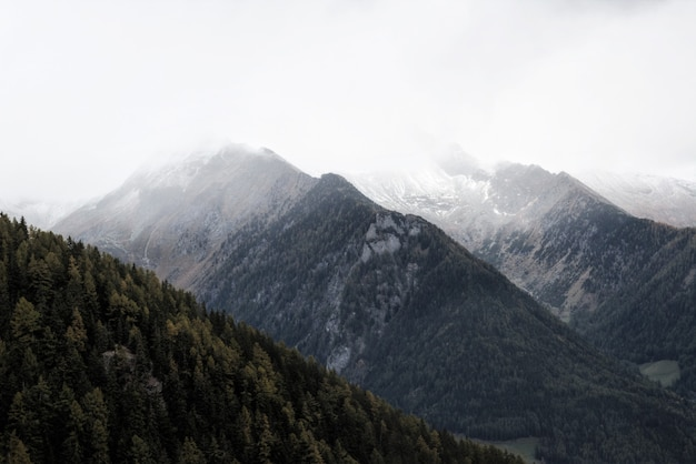 Cenário da cimeira da montanha