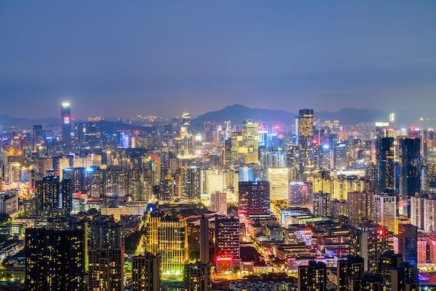 Cenário de arquitetura urbana moderna em shenzhen, china