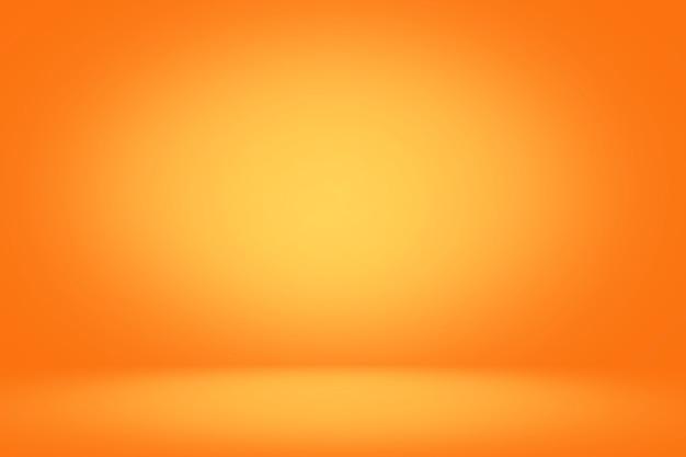 Cenário de estúdio amarelo e laranja e fundo banner horizontal