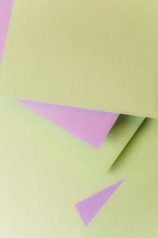 Cenário de forma de papel cartão geométrica