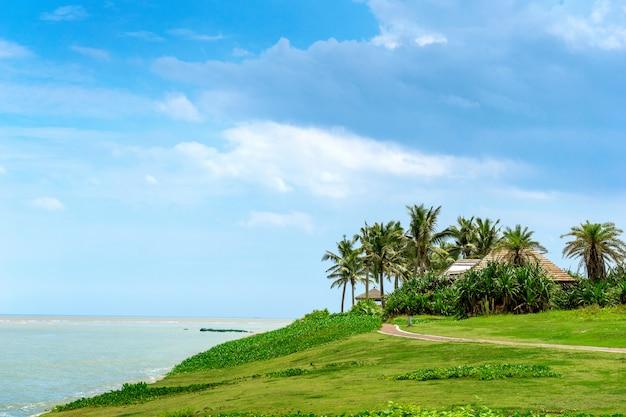 Cenário de ilha tropical, ilha de hainan, china